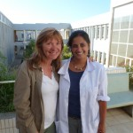 Maureen and Dr. Sarah Philip at the sparkling new hospital in Mekelle.