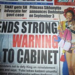 The Swazi News had the most captivating cover today.