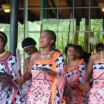 Swazi women performers at the cultural village in Ezulweni.