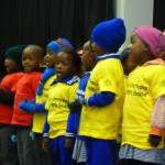 Singing pre-schoolers helped launch the Day of the African Child.