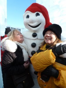 Bonhomme likes the ladies!