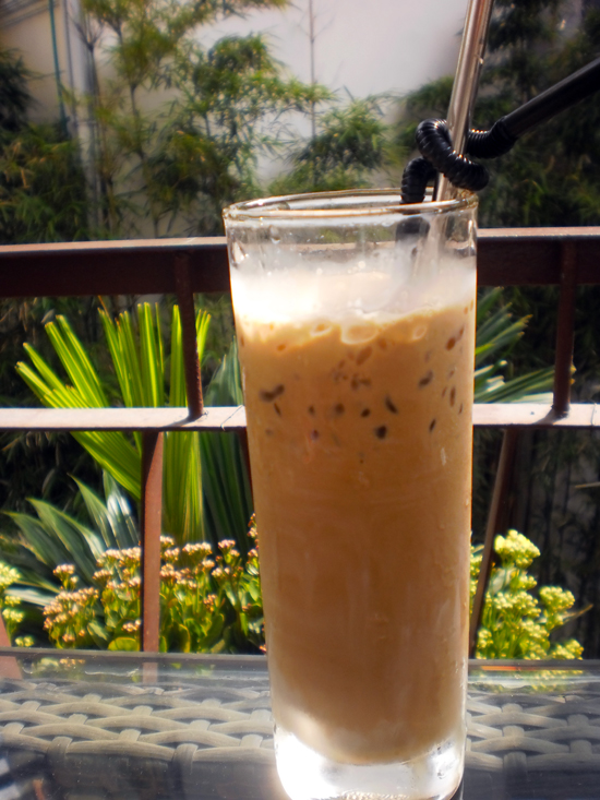 Delicious sweet iced coffee.