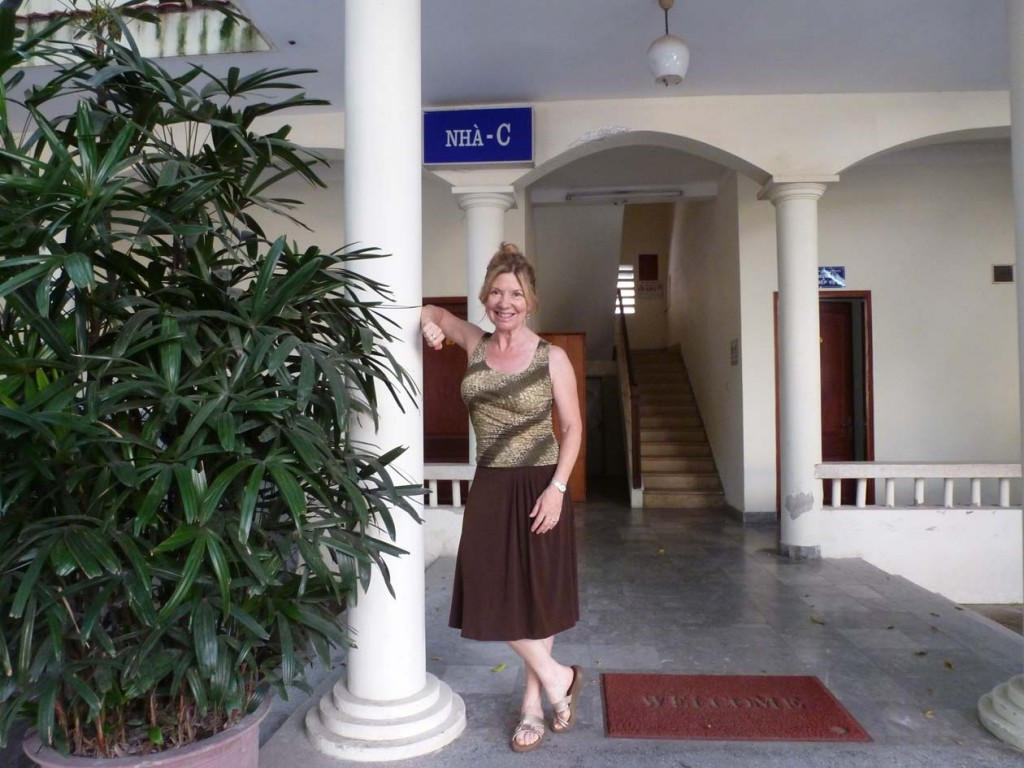 Outside the WUSC office in Hanoi.