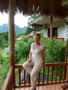 Relaxing at Truong Xuan Resort.
