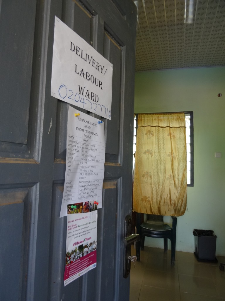 Entrance to the temporary birthing room.