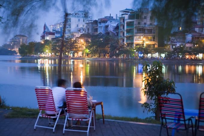 Truc Bach Lake Lawn Chairs, Hanoi