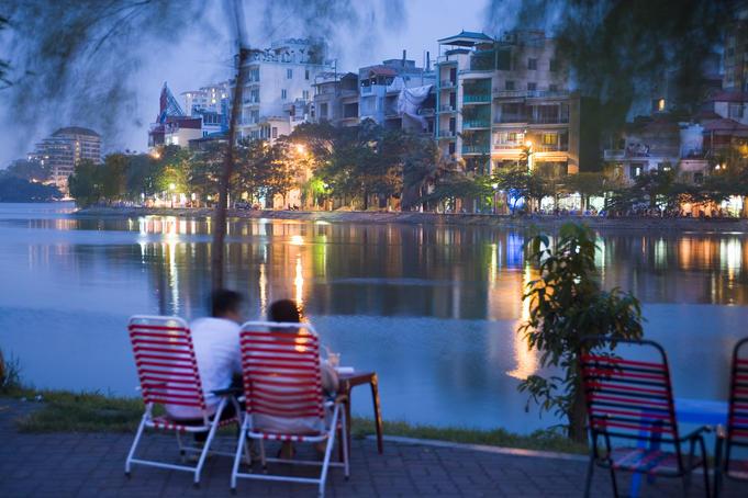 Truc Bach Lake Lawn Chairs, Hanoi